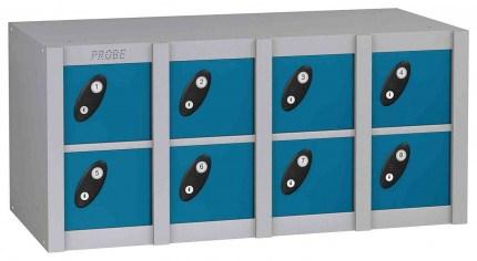 Probe MINIBOX 8 Door Electronic Locking Phone Locker blue