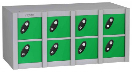 Probe MINIBOX 8 Door Key Locking Phone Locker gren
