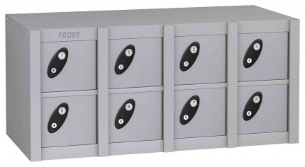 Probe MINIBOX 8 Door Combination Locking Phone Locker silver grey