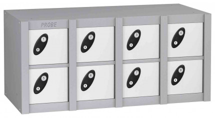 Probe MINIBOX 8 Door Key Locking Phone Locker white