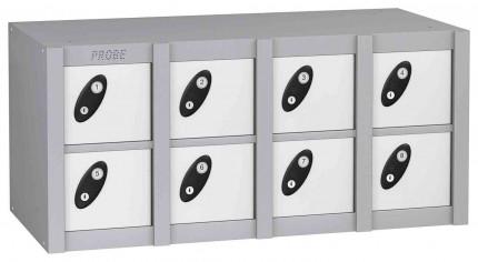 Probe MINIBOX 8 Door Electronic Locking Phone Locker white