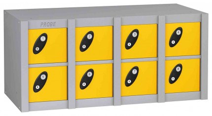 Probe MINIBOX 8 Door Combination Locking Phone Locker yellow