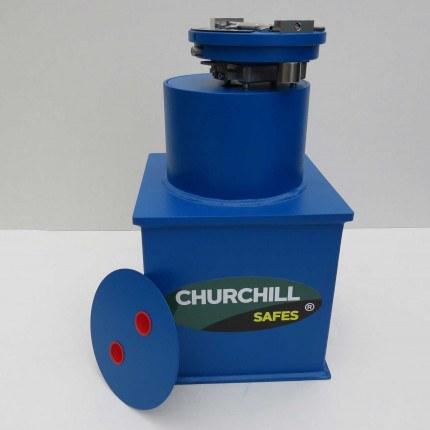 """Churchill CS001 9"""" Round Door Bronze Floor Safe £4000"""