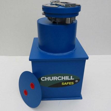 "Churchill CS004 9"" Round Door Silver Floor Safe £6000"