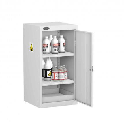 Probe AA-U Acid Alkali Corrosive Small Steel COSHH Cabinet - door open