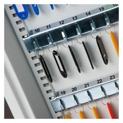 vBurton KS133 Key Storage Cabinet Electronic Lock133 Keys - adjustable hook bars