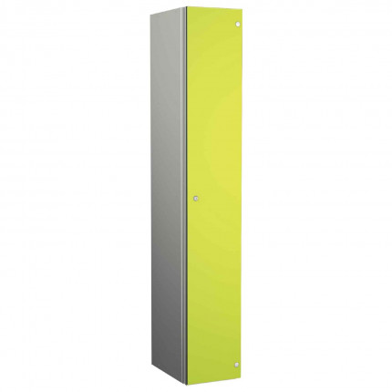 Probe ZENBOX Aluminium Single Laminate Door Locker in Lime Yellow