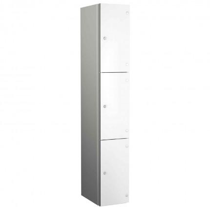 Probe ZENBOX Aluminium Three Laminate Door Locker in Pearly White