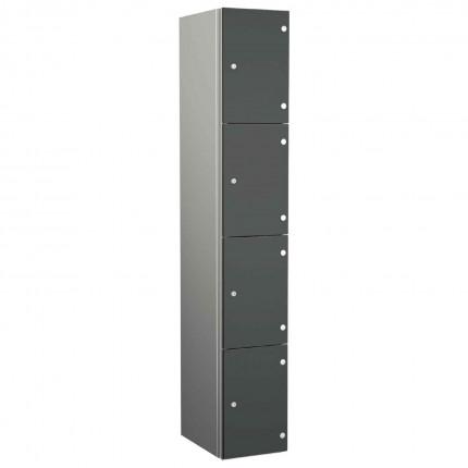 Probe ZENBOX Aluminium Four Laminate Door Locker in Dark Grey