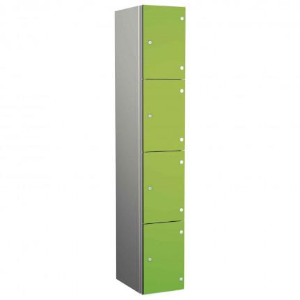 Probe ZENBOX Aluminium Four Laminate Door Locker in Lime