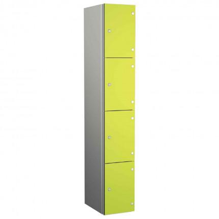 Probe ZENBOX Aluminium Four Laminate Door Locker in  Lime Yellow