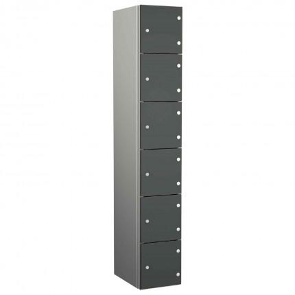 Probe ZENBOX Aluminium Six Laminate Door Locker in Dark Grey