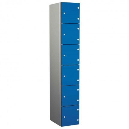 Probe ZENBOX Aluminium Six Laminate Door Locker in Electric Blue