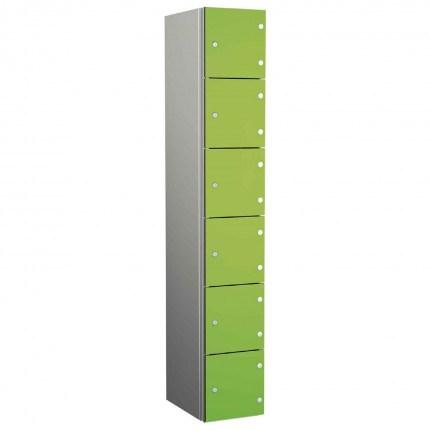 Probe ZENBOX Aluminium Six Laminate Door Locker in Lime