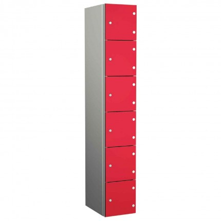 Probe ZENBOX Aluminium Six Laminate Door Locker in Red Dynasty