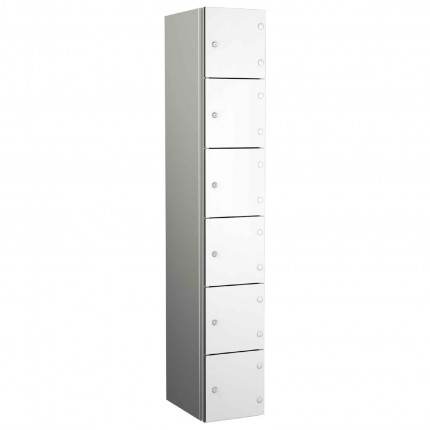 Probe ZENBOX Aluminium Six Laminate Door Locker in Pearly White