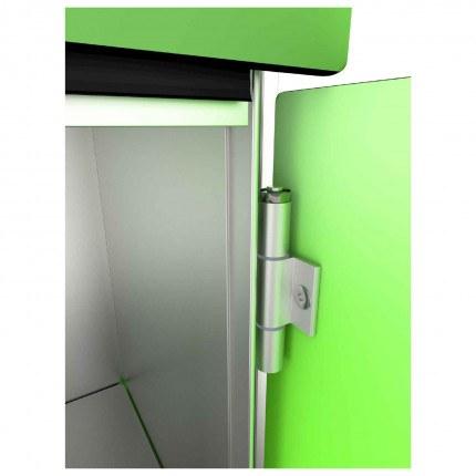 Probe ZENBOX Aluminium Showing Secure Door Hinges