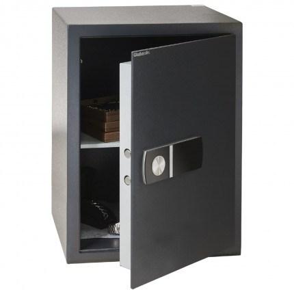 Chubbsafes Alphaplus 6E door slightly open this safe has an internal LED light