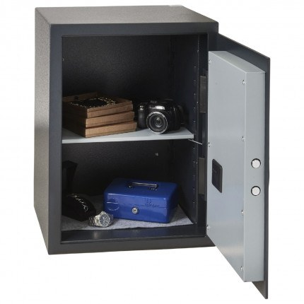 Chubbsafes Alphaplus fully open, comes with anti-tamper alarm