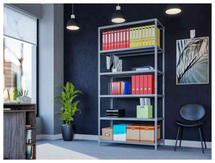 Phoenix AR2015/6G 6 Tier Static Shelving 200x100x50cm in use