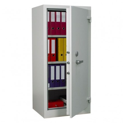 Chubbsafes Archive Fire Security Cabinet Size 325 Door ajar with Files