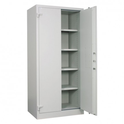 Chubbsafes Archive 640 Large Fire Security Cabinet - one door open wide