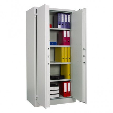 Chubbsafes Archive 640 Large Fire Security Cabinet door open with files