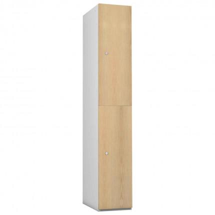 Probe 2 Door Ash TimberBox MDF Woodgrain Door Steel Locker