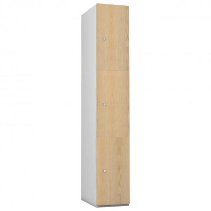 Probe 3 Door Ash TimberBox MDF Woodgrain Door Steel Locker
