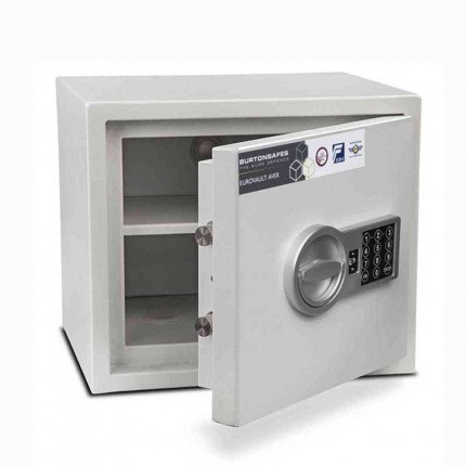 Burton Aver S2 1E Insurance Approved Electronic Security Safe - door ajar