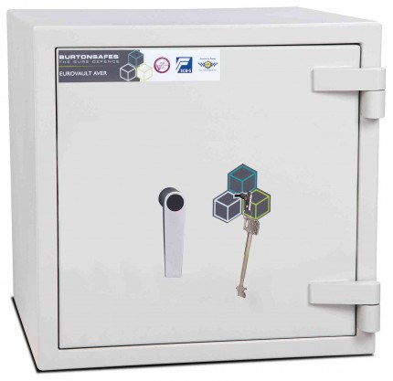 Burton Eurovault Aver 1K Eurograde 2 Key Locking Security Fire Safe - closed