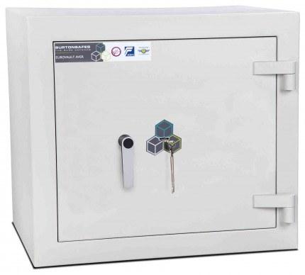 Burton Eurovault Aver 3K Eurograde 2 Key Locking Security Fire Safe - closed