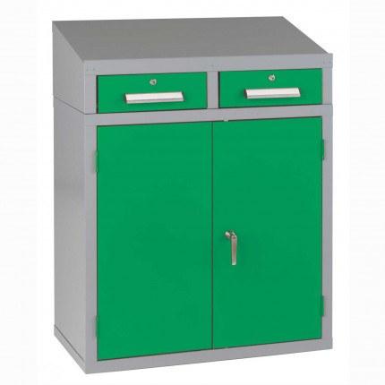 Bedford 88BDU1 Welded 2 Drawer Steel Sloping Top Desk Cabinet