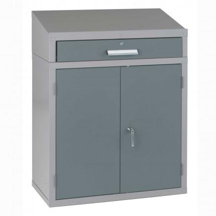 Bedford 88BDU2 Welded 1 Drawer Steel Sloping Top Desk Cabinet