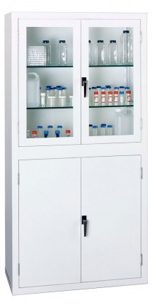 Bedford 88S894 Viewcab Split Steel Safety Glass Door Cabinet