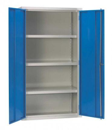 Medium Duty Fully Welded Wide Steel Cabinet 183x122x46 - Bedford 88W824 open
