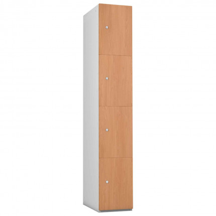Probe 4 Door Beech TimberBox MFC Woodgrain Door Steel Locker
