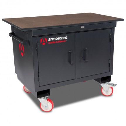 Mobile Workbench - Armorgard Mobile TuffBench - Closed
