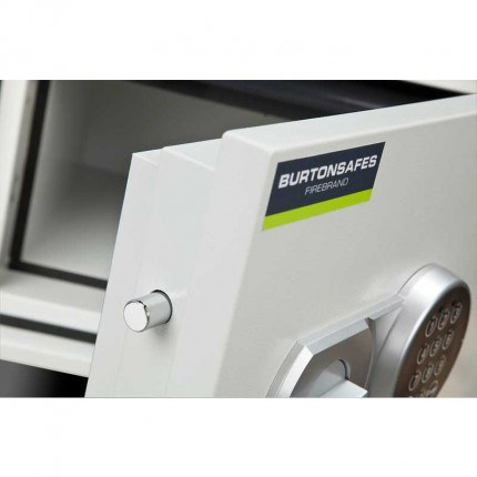 Burton Firebrand Size1 Fireproof Home Electronic Safe - door bolts