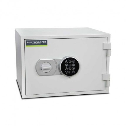 Burton Firebrand Size1 Fireproof Home Electronic Safe - door closed