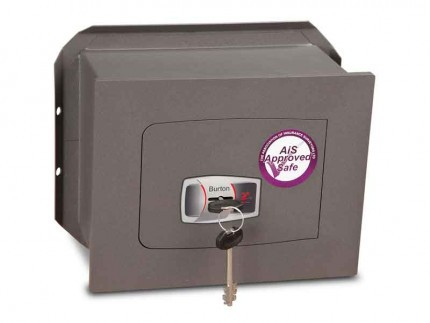 Wall Security Safe Key Locking - Burton Torino DK1K - door closed