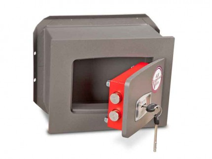 Wall Security Safe Key Locking - Burton Torino DK1K - door ajar
