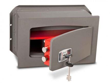 Wall Security Safe Key Locking - Burton Torino DK2K - door ajar