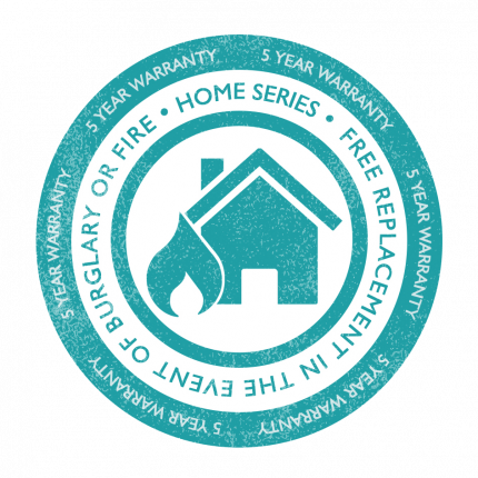 Burton Home Safe 1E has a 5 year warranty for domestic use