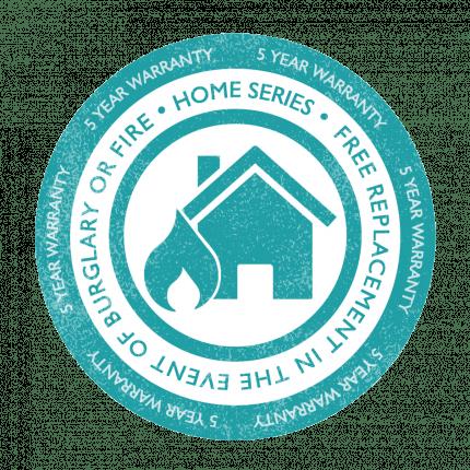 Burton Home Safe 2E has a 5 year warranty for domestic use