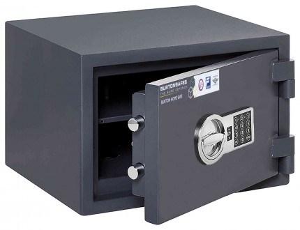 Electronic Grade 0 Security Safe - Burton Home Safe 2E - door ajar