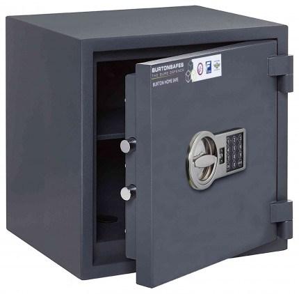 Electronic Grade 0 Security Safe - Burton Home Safe 3E - door ajar