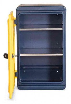 Armorgard Chemcube CCC1 Leak Proof Liquids Plastic Cabinet - interior view