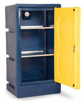 Armorgard Chemcube CCC2 Leak Proof Liquids Plastic Cabinet - interior view