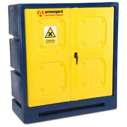 Armorgard CHEMCUBE CCC3 Plastic COSHH Cabinet with door closed